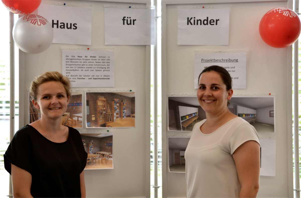 KiTa Haus für Kinder stellt das Wunschprojekt bei TAT Trier Aktiv im Team vor