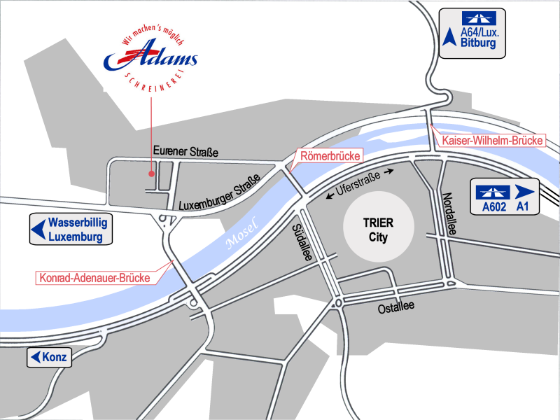 Anfahrtsskizze-Stadtplan
